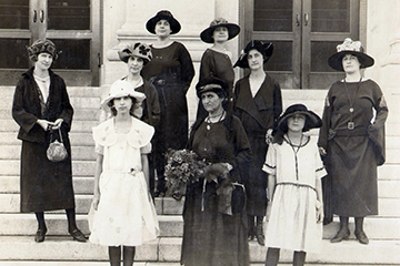 Alice Brown Davis and family the day of her swearing-in as Chief of the Seminole Nation of Oklahoma, 1922.