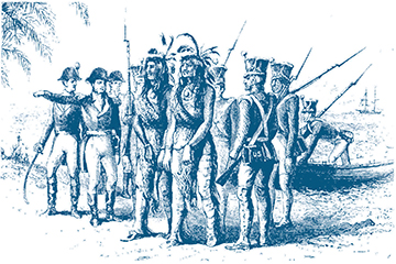 Seminole chiefs captured by U. S. soldiers during the First Seminole War